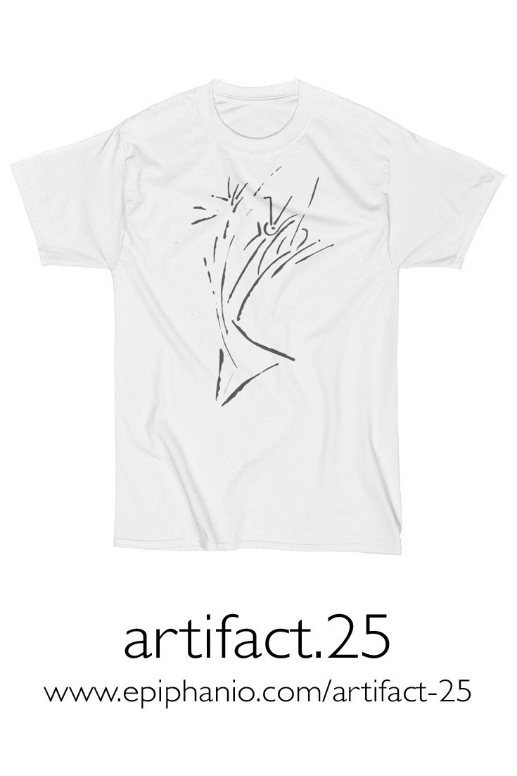 Artifact.25 — Grey on White — Men's Short Sleeve T-Shirt (rugged)
