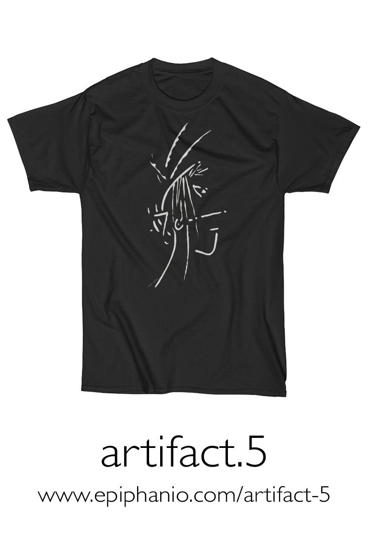 Artifact.5 — Sand on Black — Men's Short Sleeve T-Shirt (rugged)