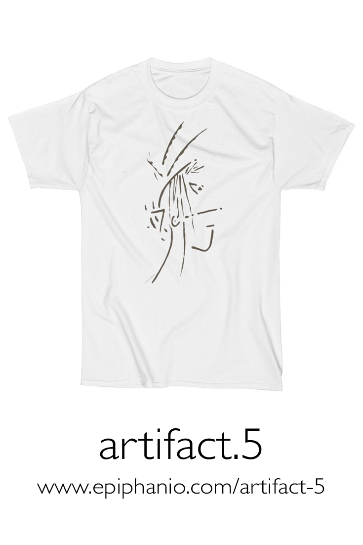Artifact.5 — Brown on White — Men's Short Sleeve T-Shirt (rugged)