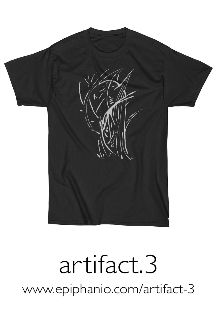 Artifact.3 — Grey on Black — Men's Short Sleeve T-Shirt (rugged)
