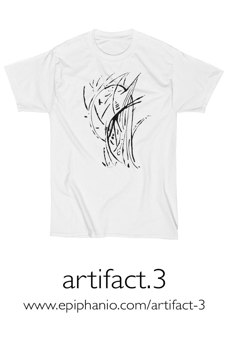 Artifact.3 — Black on White — Men's Short Sleeve T-Shirt (rugged)